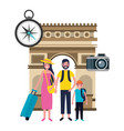 family vacations travel vector image