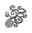 Fantasy pattern in tattoo style vector image vector image