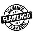 flamenco round grunge black stamp vector image vector image