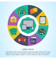 Flat computer infographic background vector image vector image
