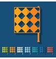 Flat design linesman flag vector image
