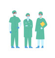 group medical staff in protective clothes vector image