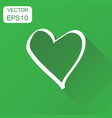 hand drawn heart icon business concept love heart vector image