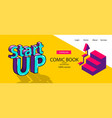 isometric banner business flat site background vector image vector image