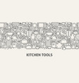 kitchen tools banner concept vector image