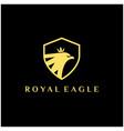 luxury royal eagle logo eagle shield with crown vector image vector image