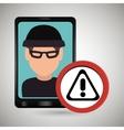 man smartphone thief secure vector image