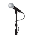 microphone stand vector image vector image