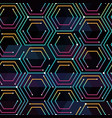 neon color tech pattern vector image vector image