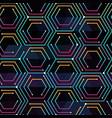neon color tech pattern vector image