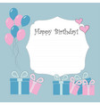 newborn birthday cards vector image