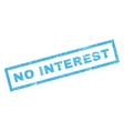 No Interest Rubber Stamp vector image vector image