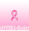 pink ribbon international symbol of breast cancer vector image vector image
