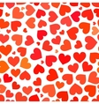 Red heart on a white background seamless pattern vector image vector image