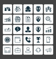 resources icons set collection of female pin vector image vector image