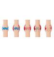 Rheumatoid arthritis in human joints vector image vector image