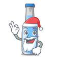 santa bottle soda water isolated on mascot vector image vector image