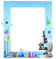 Science tools and containers vector image vector image