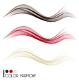 Set of color curve lines vector image vector image