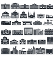 Set of icons buildings series flat vector image