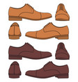 set with classic mens shoes vector image