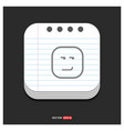 smiley icon face icon gray icon on notepad style vector image