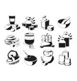 spa and health set in monochrome vector image vector image