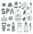 spa hand dawn collection beauty icon set original vector image vector image