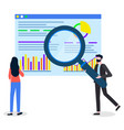 statistical data research web graphic studying vector image