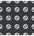 Straight black NO sign pattern vector image vector image
