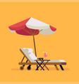 summer beach design element vector image vector image