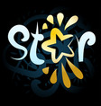 the company logo is associated with the word star vector image vector image