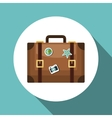 travel suitcase retro vacation design vector image
