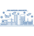 usa new hampshire manchester winter city vector image vector image