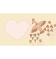 Vintage bird and heart vector image vector image