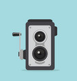 vintage retro camera photographic vector image