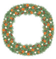 watercolor christmas wreath with pine anise star vector image vector image