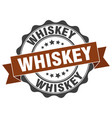 whiskey stamp sign seal vector image