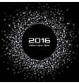 White - Black New Year 2016 Background vector image
