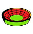 round stadium icon icon cartoon vector image