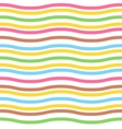Seamless colorful waved pattern for easter eggs vector image