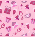 valentines day love icons seamless pattern with vector image