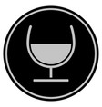 wine glass black coin vector image