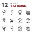 12 balloon icons vector image vector image