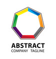abstract logo template colorful logo design on vector image vector image