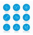 Accumulator spanner tool and car service icons vector image vector image