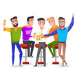 bachelor party men drinking beer toast vector image