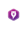 bear head and face for logo design in shape vector image vector image