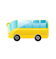 beautiful bus vector image vector image