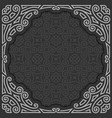black and white frame vector image vector image
